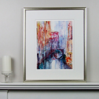 Limited Edition Colourful Venice Print