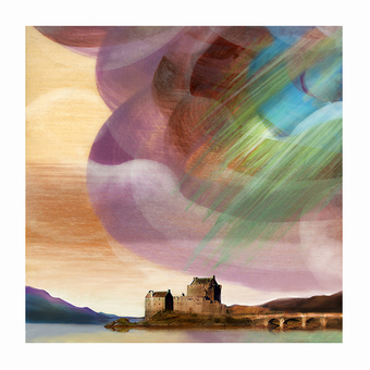 Blue Cloud over Eilean Donan Castle