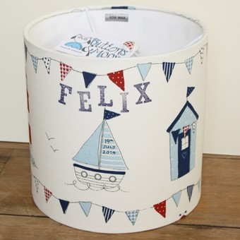 personalised nautical lampshade
