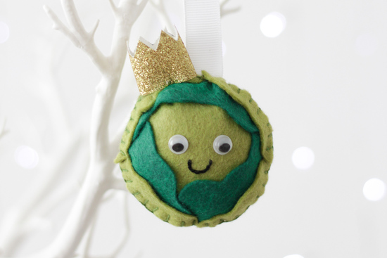 Brussel Sprout Felt Christmas Tree Decoration