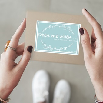open me when... a little box of love, comfort and support