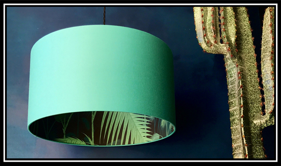 Our New Palm Jungle Lampshade in Jade