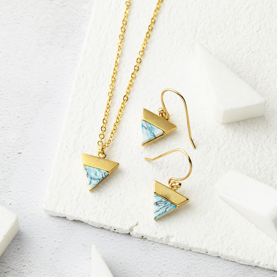 Marble Triangle Jewellery