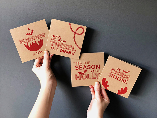 Silly sayings Christmas card pack