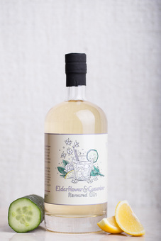 Elderflower and Cucumber flavoured Gin
