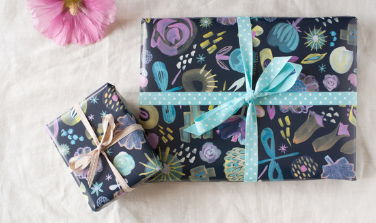 Beautiful wrapping paper, cards and prints from the Inkpaintpaper studio