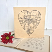 Personalised map with heart