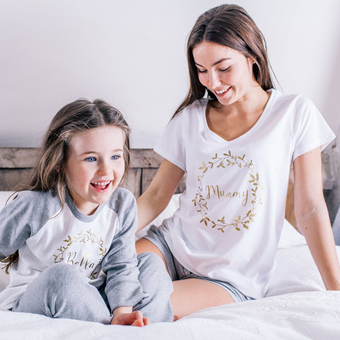 Personalised Family Christmas Wreath Pyjamas