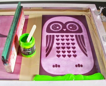 print owl cushion