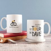 Personalised 'Tour De' Cycle Mug