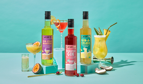 Range of craft gins