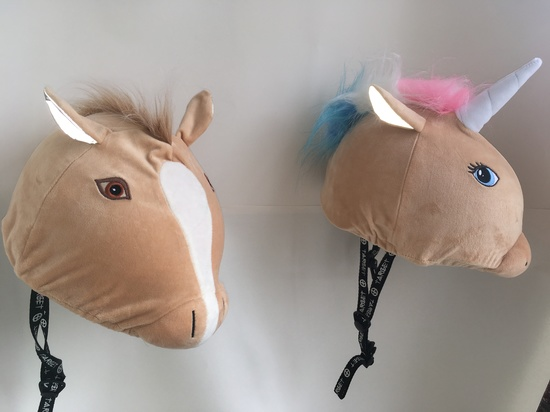 A range of hat silks , helmet covers suit horse / ski and bike helmets