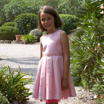 Girls Pink Sparkle Occasion Dress