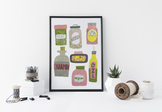 Kitchen Spices Print