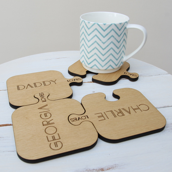 Personalised Jigsaw Coasters
