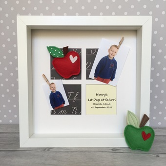 Personalised First / 1st Day at School Apple Frame