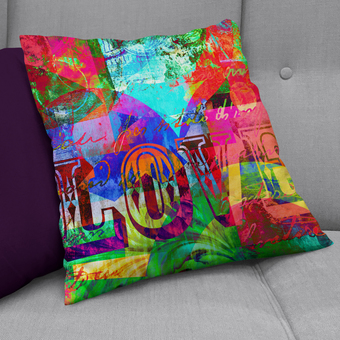 'Love Bright Vintage' cushion