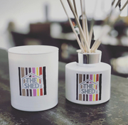 Imperfecto Happy Stripe candles and diffusers