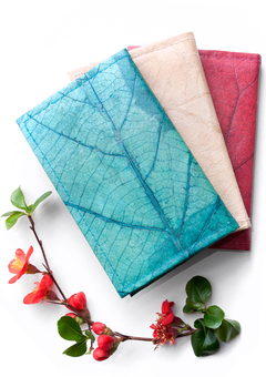 Colourful vegan leather notebooks