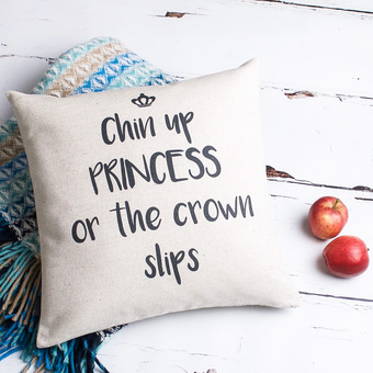 Chin up Princess Cushion Cover