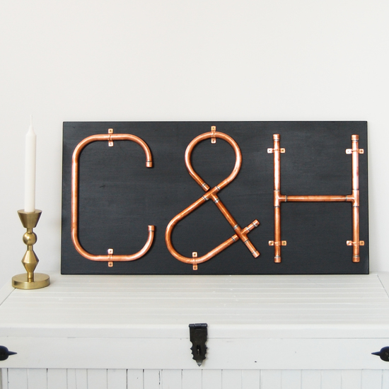 Copper Letters Mounted