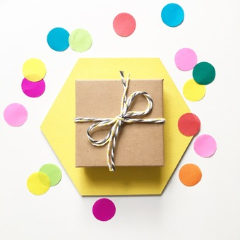 Bright and wonderful gift wrapping