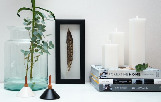 Framed Feathers | Scandi Vases | Swedish Candles | Home Interior Styling
