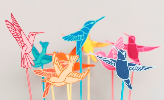 Papercut Hummingbird Wedding Cake Topper by Rosie and the Boys