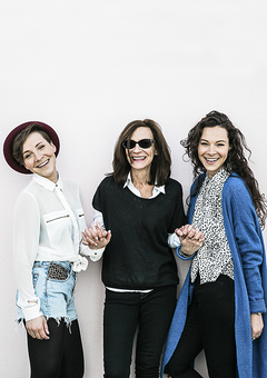 The founders of MiaFleur; Jacqui, Hollie and Amelia Brooks