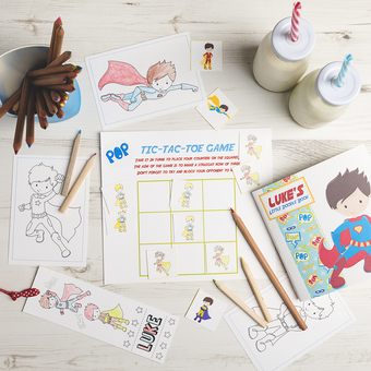 personalised superhero activity bundle