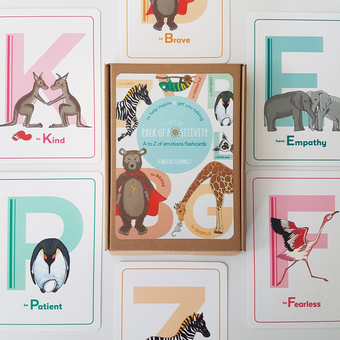 Fearless Flamingo Little Pack of Positivity flashcards