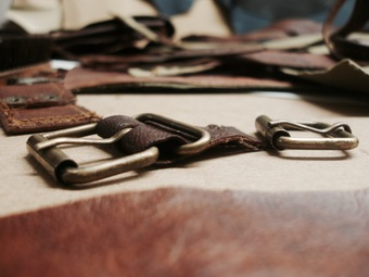 Choosing leather and hardware