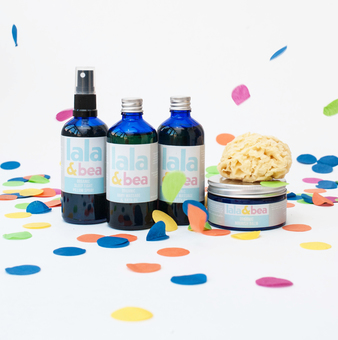 Organic family skincare set
