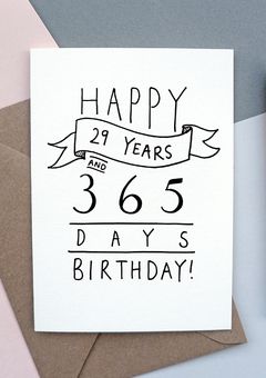 30th Birthday Card for someone in denial