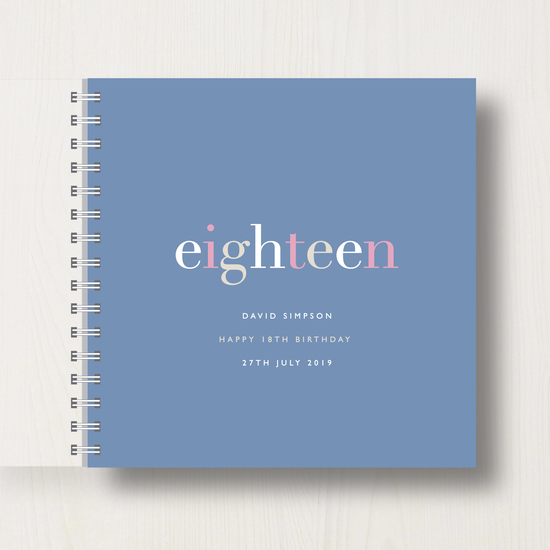 Personalised 18th Birthday Memory Book