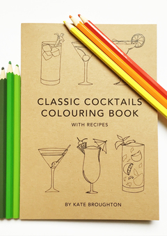 kate broughton cocktail colouring book