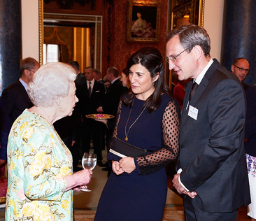 Béatrice and Arnaud meet the Queen!