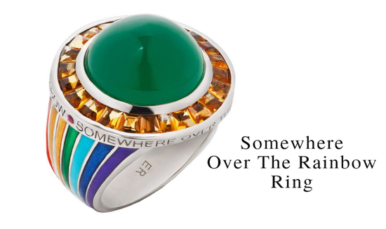 Somewhere Over The Rainbow Ring as Featured in The New York Times