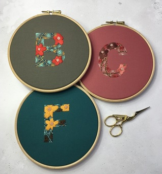 Embroidered Botanical Initial