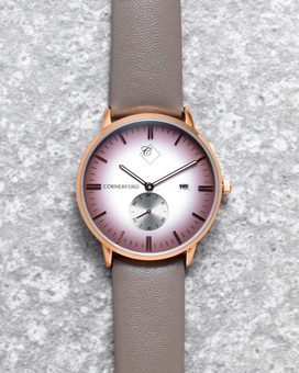 Mens Leather Watches by Cornerford