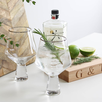 gin drinks gift set in silver