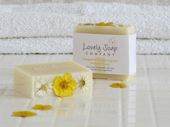 Lovely Soap Company grapefruit & lemongrass natural soap