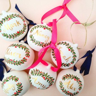 Hand Painted Personalised Baubles