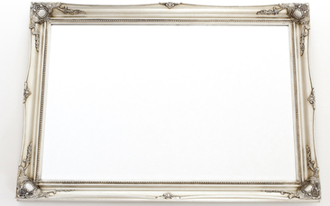 A classic silver mirror to enhance your home