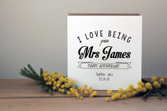 Our top selling anniversary card
