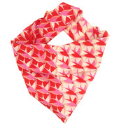 Birds inflight silk women's neck scarf