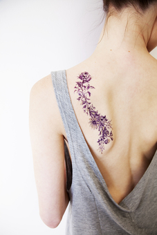 PAPERSELF Flower Temporary Tattoo