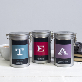 personalised tea gift novello