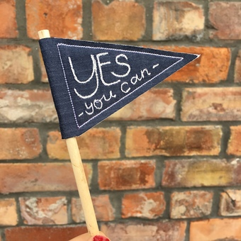 Yes you can Mini embroidered Flag
