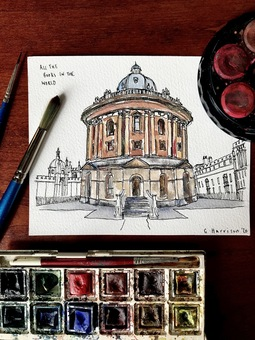 Illustration of the Bodleian Library in Oxford